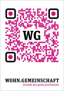 """QR Code Flyer """"wohngemeinschaft"""""""